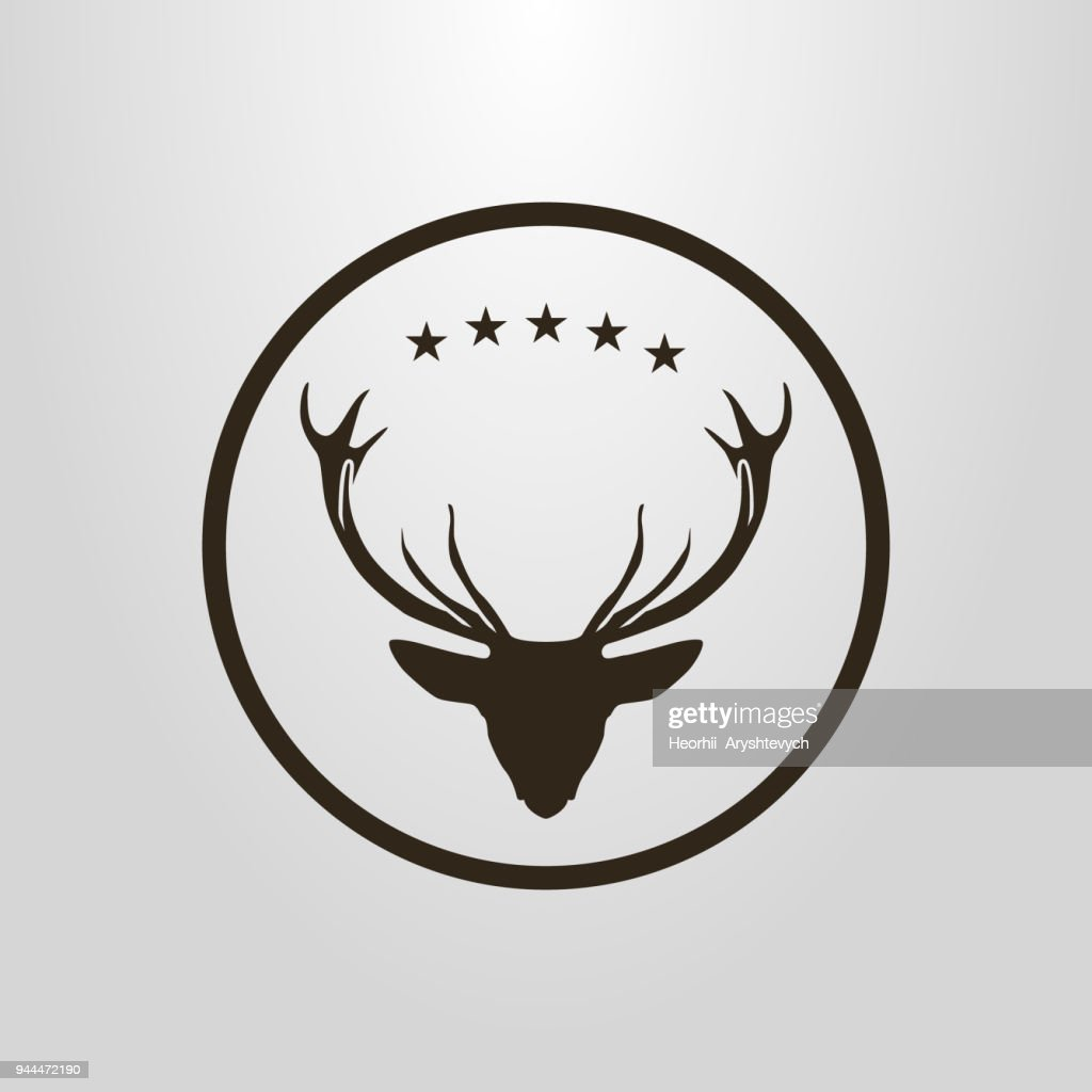 deer icon in a circular frame