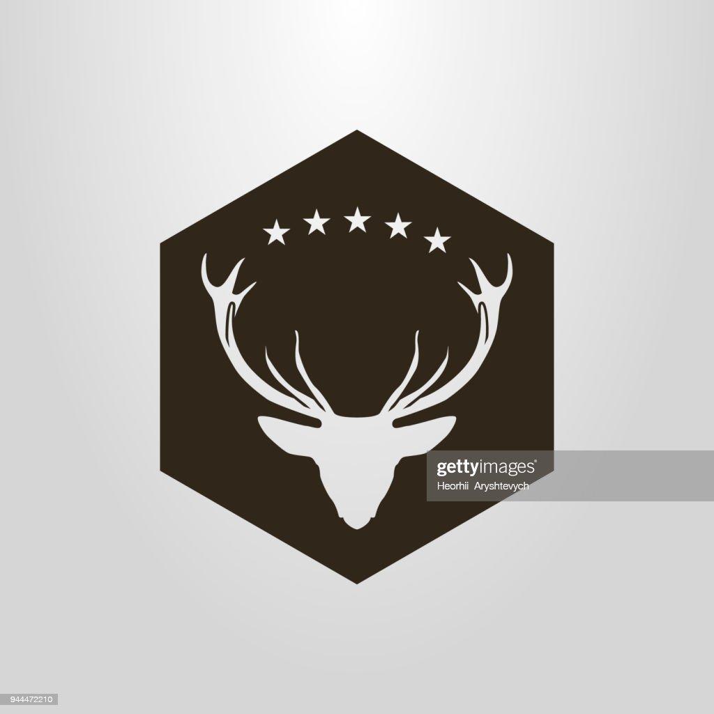 deer icon in diamond frame