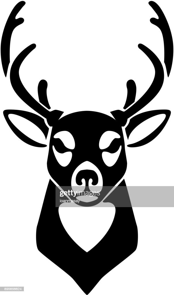 Deer icon isolated on white background. Design element for label, emblem, sign.