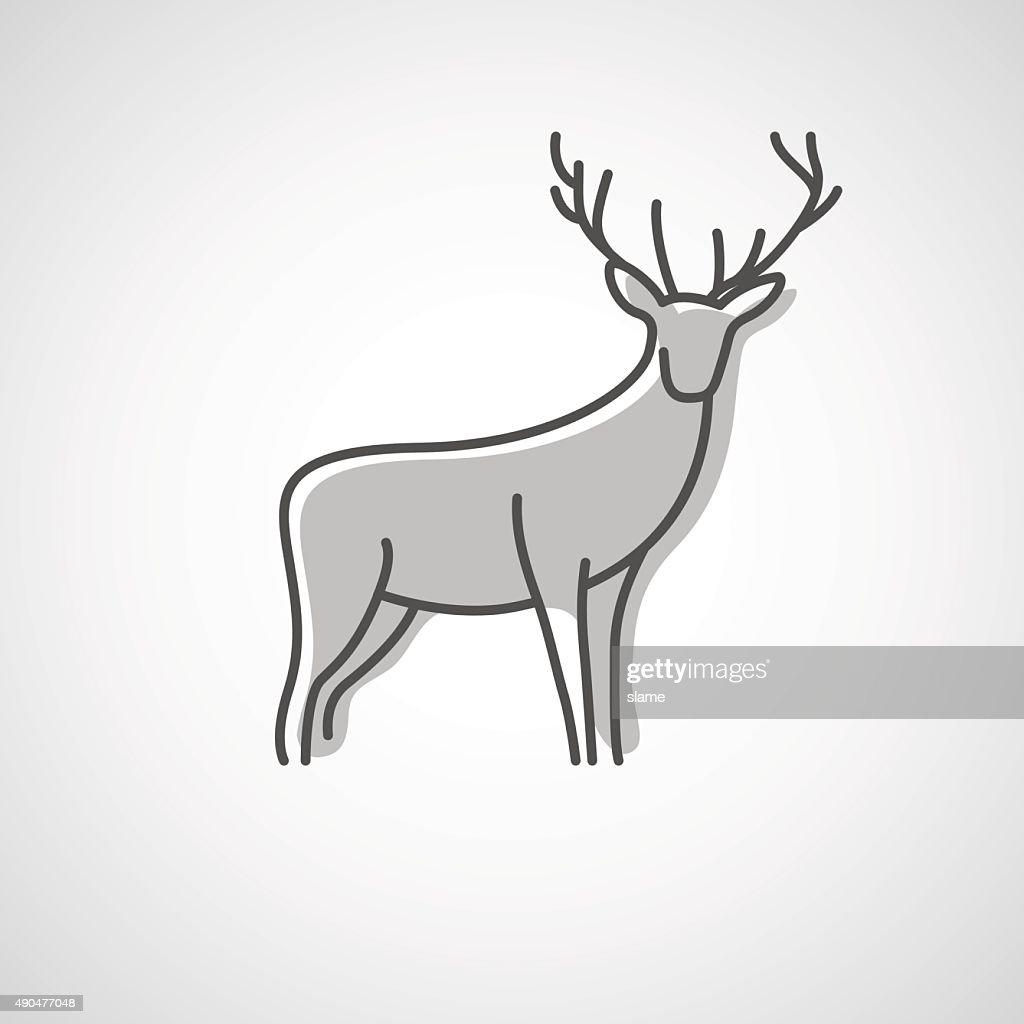 Deer logo design