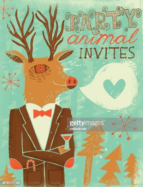 Deer party animal invitation