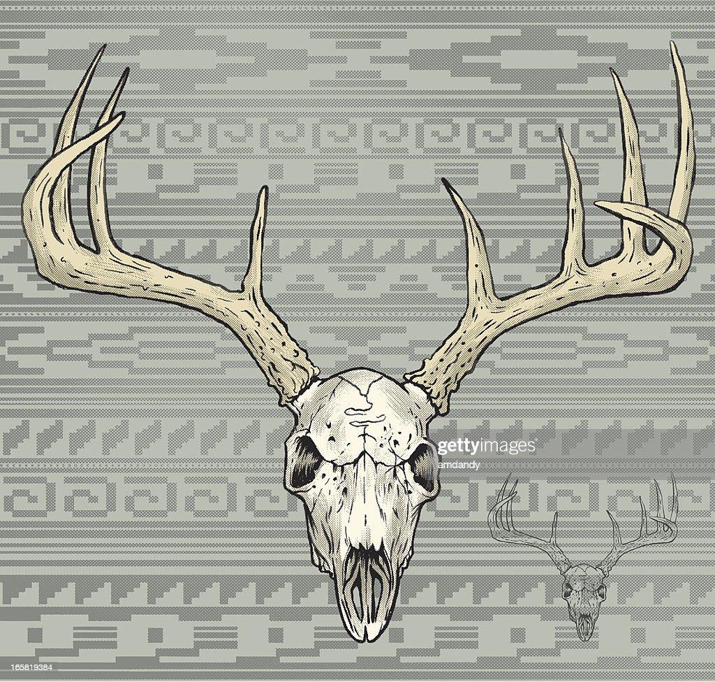 deer skull in a aztec world