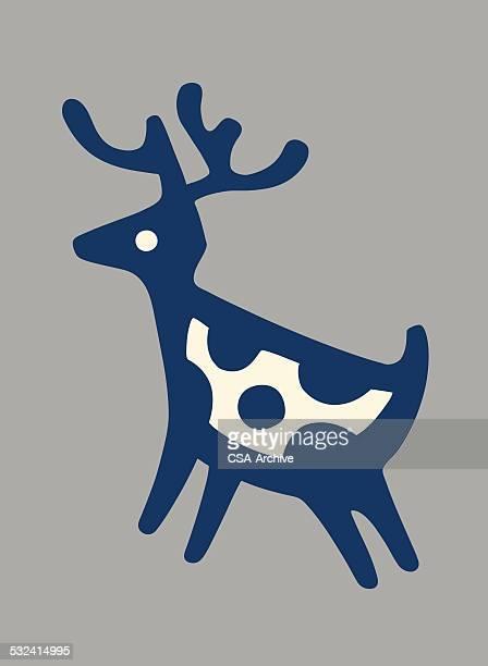 ilustraciones, imágenes clip art, dibujos animados e iconos de stock de ciervo - pintura rupestre