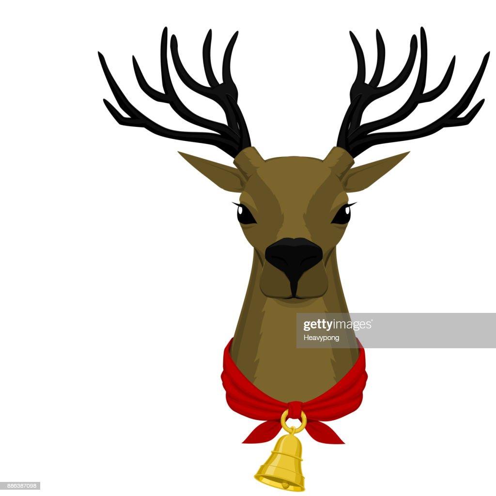 Deer with golden bell