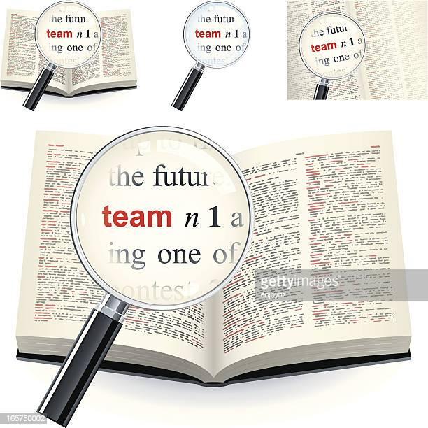 定義という単語のチームの辞書 - 辞書点のイラスト素材/クリップアート素材/マンガ素材/アイコン素材