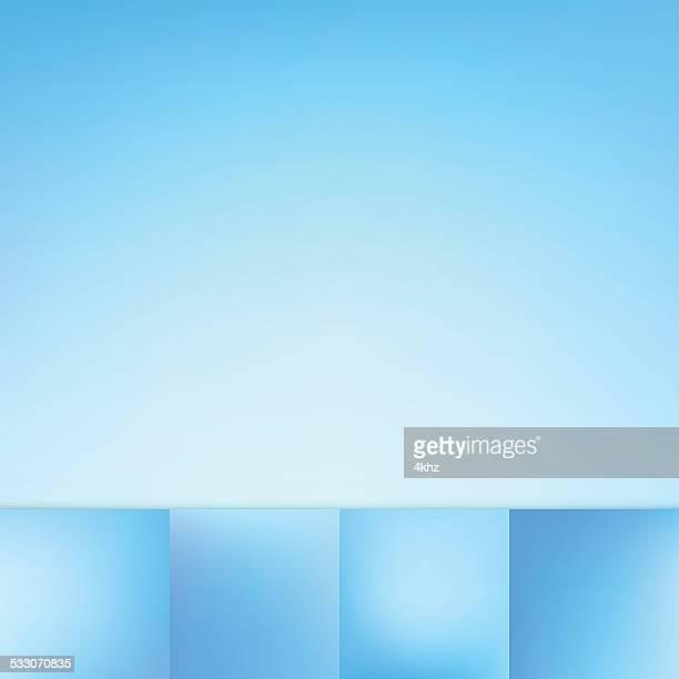 Defocus Blue Color Gradient Vector Background Collection