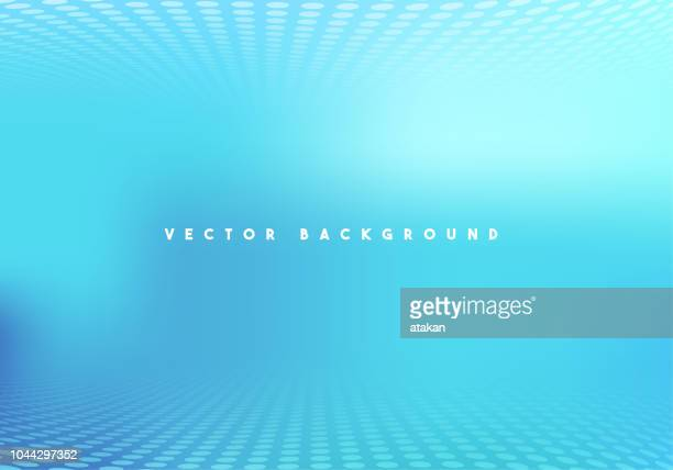 Defocused Abstract Blue Technology Background
