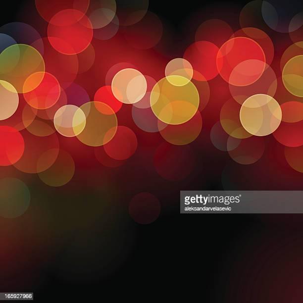 defocused christmas lights - defocused stock illustrations