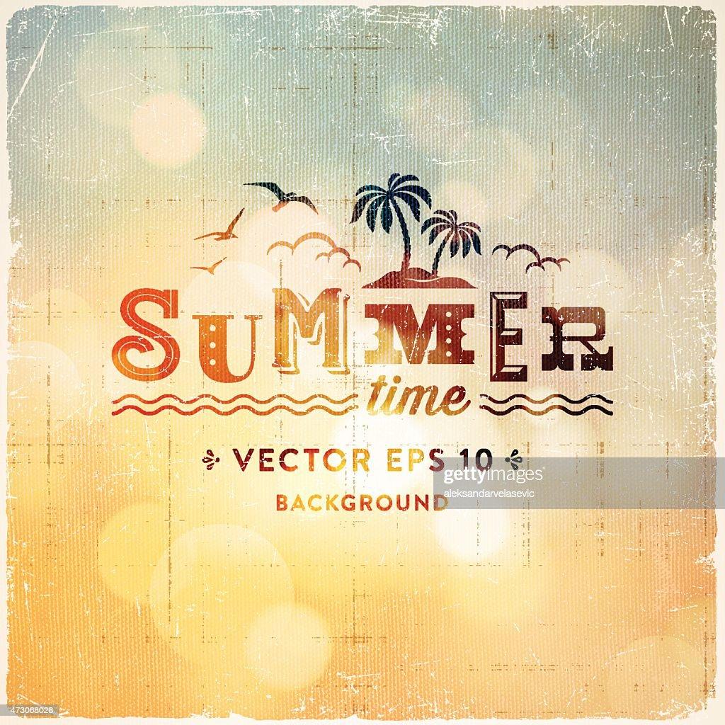 Retro Sommer Hintergrund Unscharf gestellt : Stock-Illustration