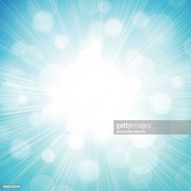 Defocused Sunlight Burst Background