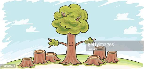 ilustrações de stock, clip art, desenhos animados e ícones de desflorestação ilustração - desmatamento