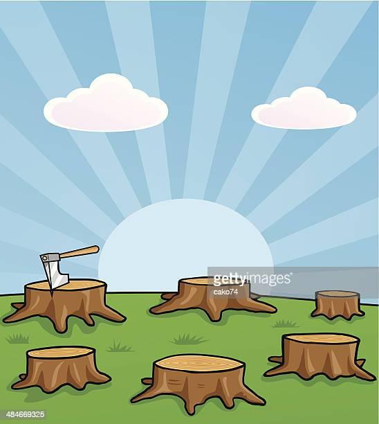 ilustrações de stock, clip art, desenhos animados e ícones de desflorestação - desmatamento