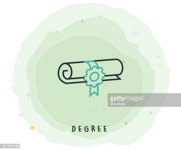 Degree Icon with Watercolor Patch