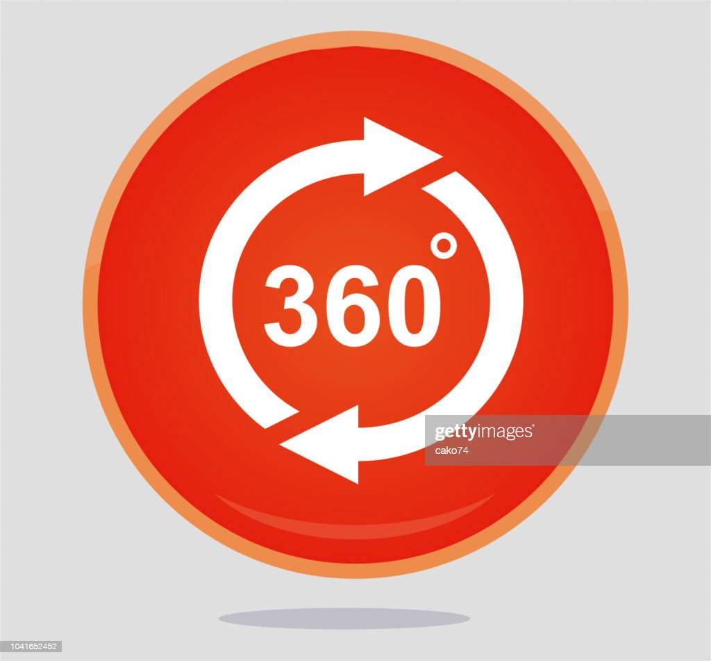 360 degrees icon : Stock Illustration