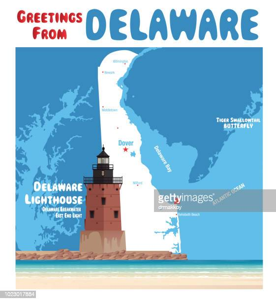 delaware breakwater east end light - newark delaware stock illustrations, clip art, cartoons, & icons