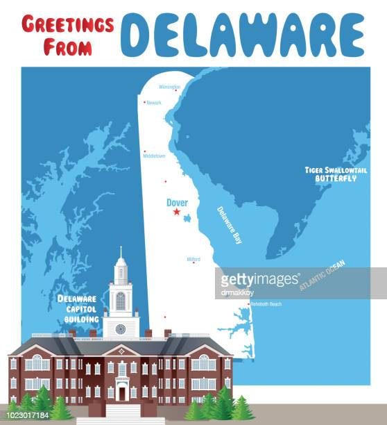 delaware capitol building - newark delaware stock illustrations, clip art, cartoons, & icons