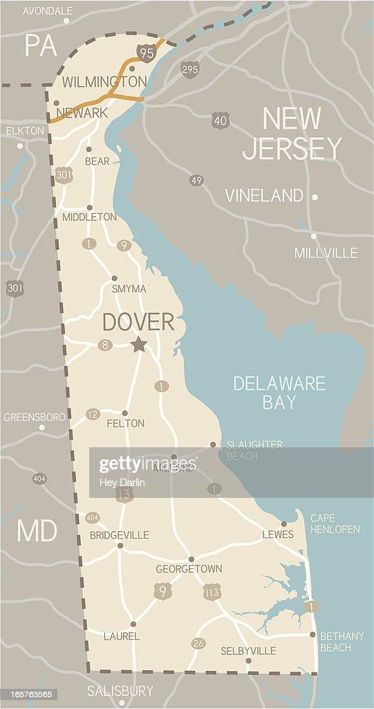 Delaware Map : stock illustration