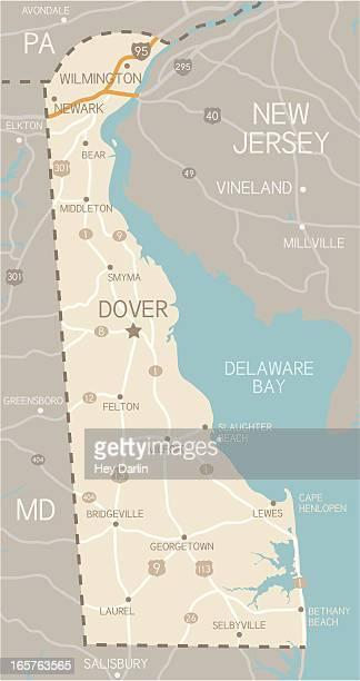 デラウェアマップ - デラウェア州点のイラスト素材/クリップアート素材/マンガ素材/アイコン素材