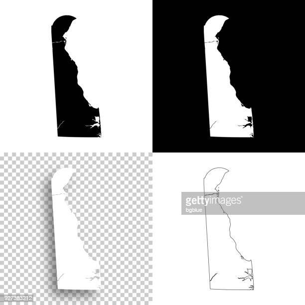 Delaware maps for design - Blank, white and black backgrounds