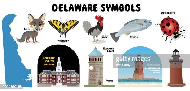 delaware symbols - newark delaware stock illustrations, clip art, cartoons, & icons