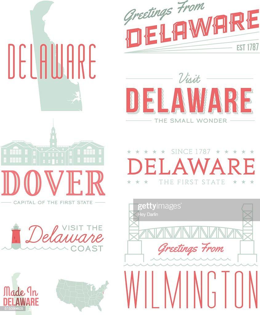 Delaware Typography : stock illustration