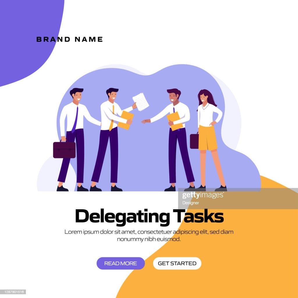 Delegating Tasks Concept Vector Illustration For Website ...