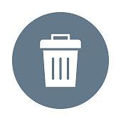 delete glyph flat circle icon