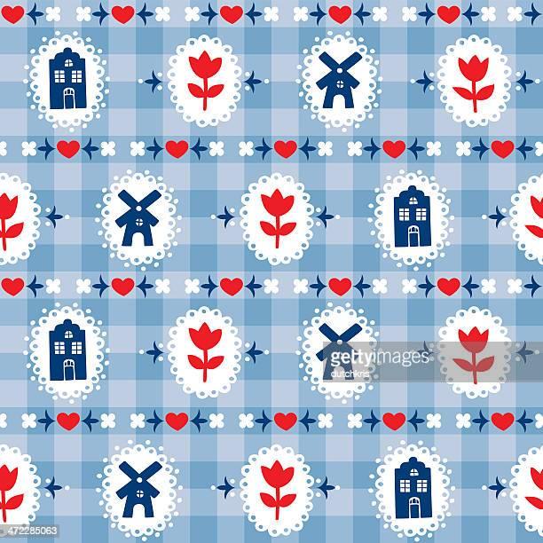 Delft blue pattern swatch