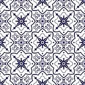 Delft dutch tiles pattern vector