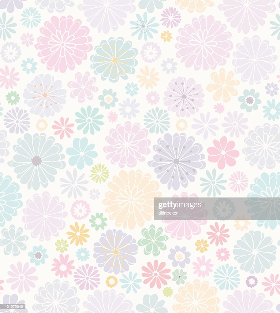 Delicate floral seamless pattern.
