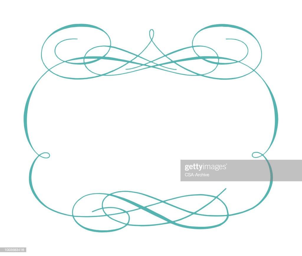 Zarte Verzierten Rahmen Vektorgrafik | Getty Images