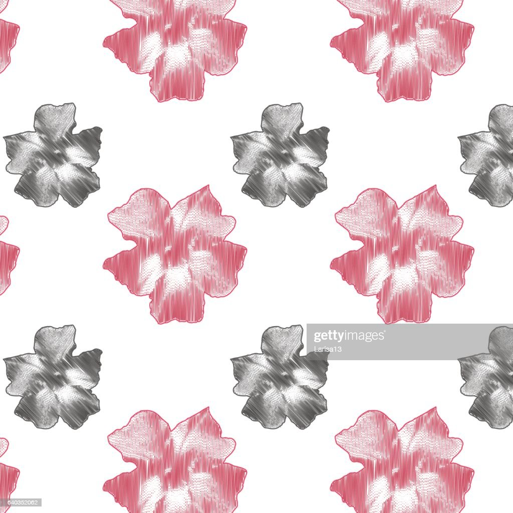 Delicate Pink Flowers On White Background Vector Art Getty Images