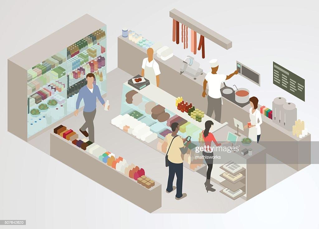 Delicatessen Illustration : stock illustration