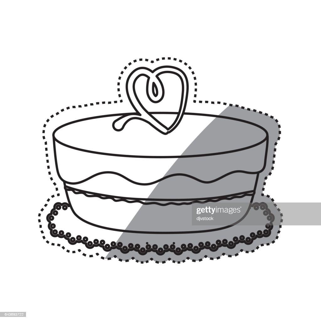 Delicious Birthday Cake Stock Vector