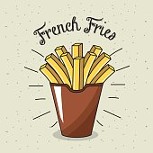delicious fries french fast food meal