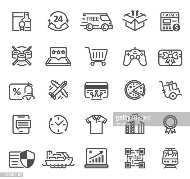 lieferung und logistik line symbole - kostenlos stock-grafiken, -clipart, -cartoons und -symbole