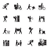 Delivery Black Icons