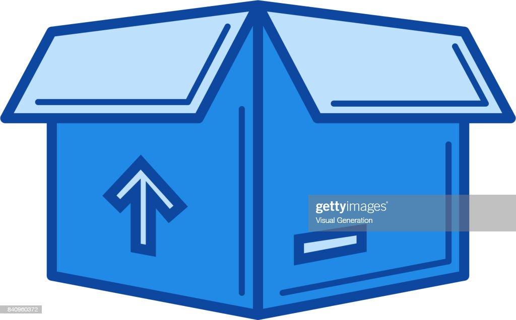 Delivery box line icon
