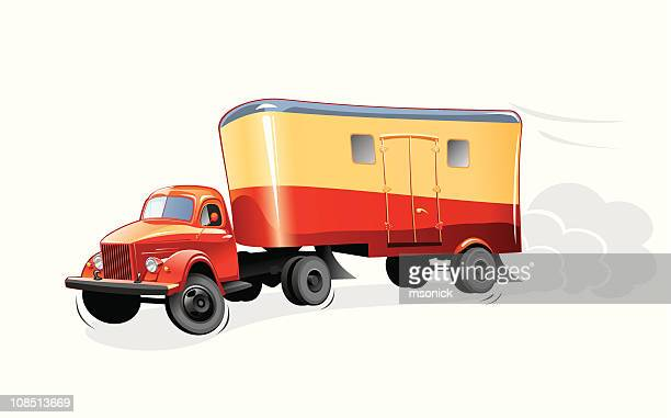 delivery car - lutin stock illustrations