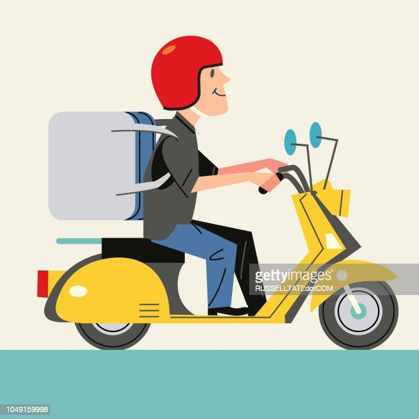 delivery driver - courier stock illustrations
