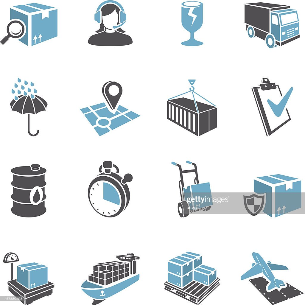 3D Delivery Icon Set : stock illustration