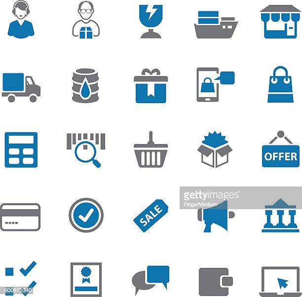 delivery icon set - send stock illustrations