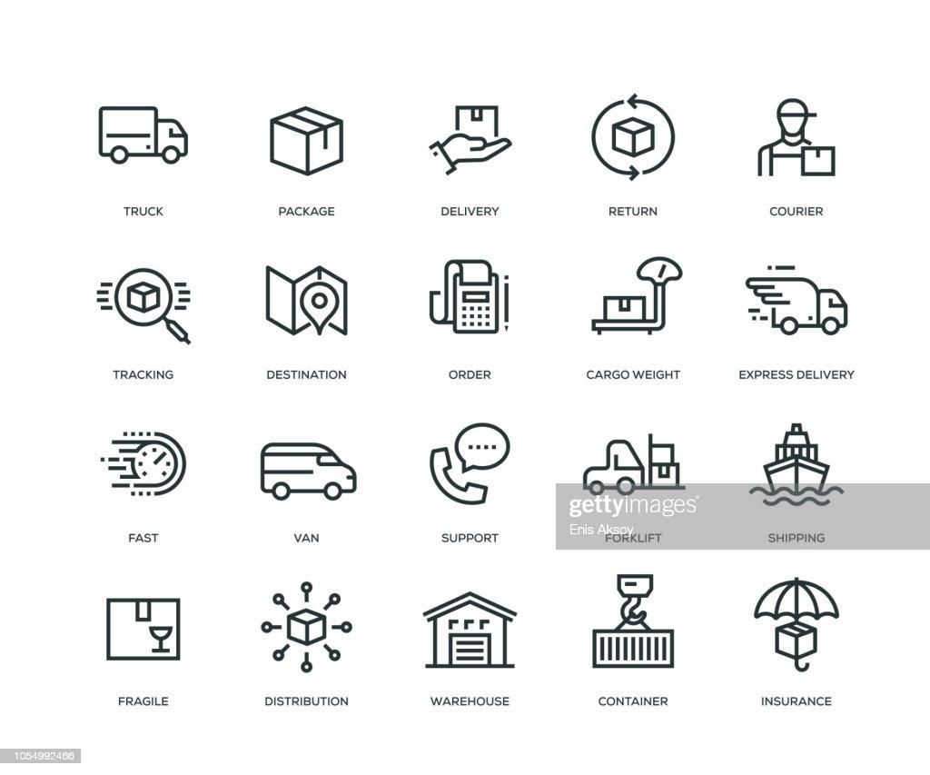 Levering Icons - Line serie : Stockillustraties