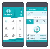Delivery icons & User Interface on smartphone