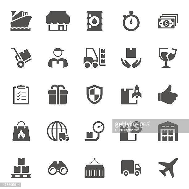 delivery icons - sentando stock illustrations