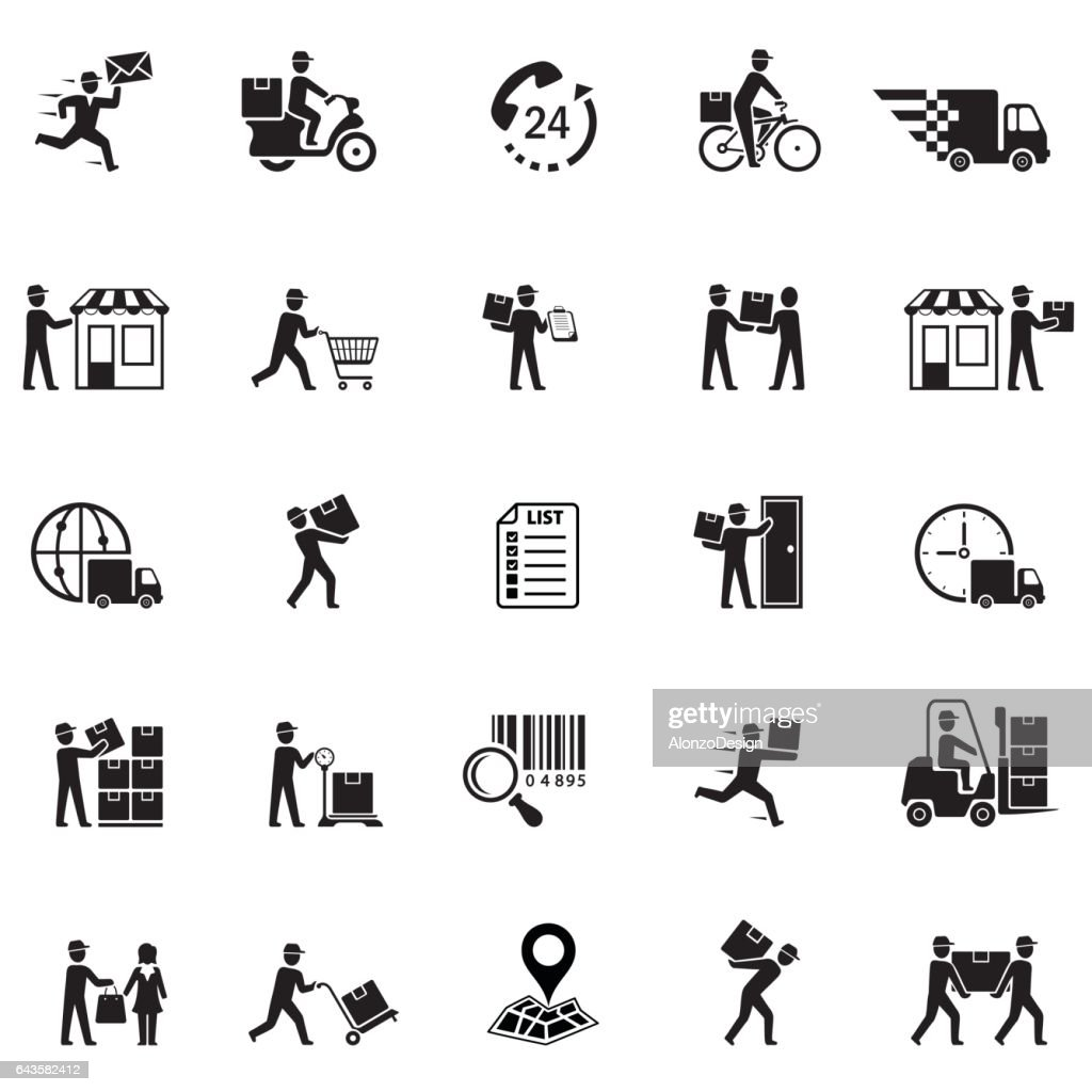 Delivery icons : stock illustration