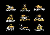 Delivery logo. Shipping vector icons set