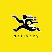 Delivery Logo Vector Template Design