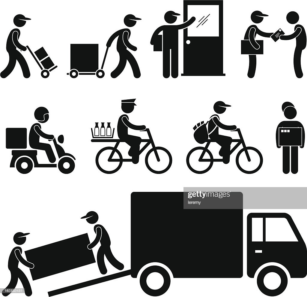 Delivery Man Pictogram