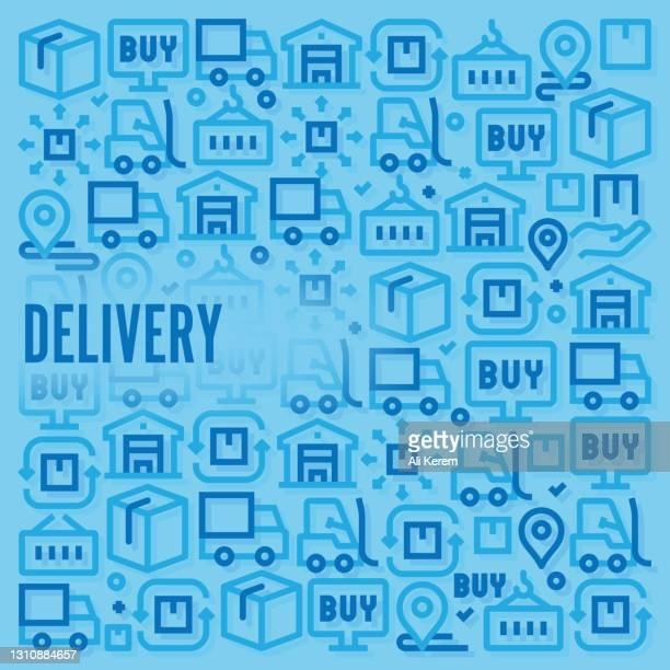 配信パターン - 荷積み場点のイラスト素材/クリップアート素材/マンガ素材/アイコン素材